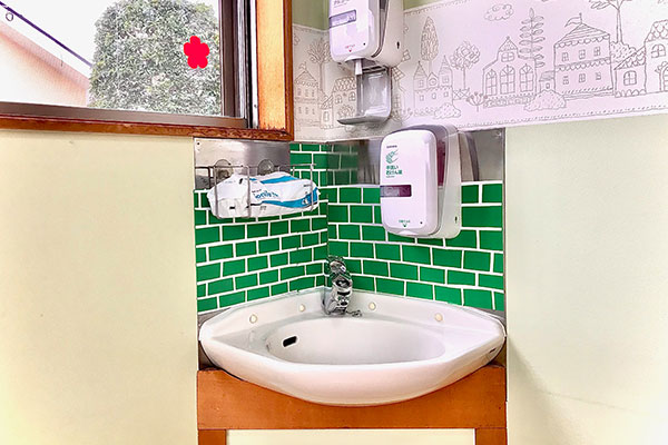 隔離室内洗面所